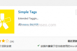 wordpress自动内链插件Simple Tags
